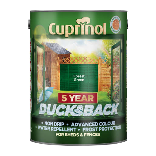 Cuprinol 5 Year Ducksback 5 Litre Forest Green