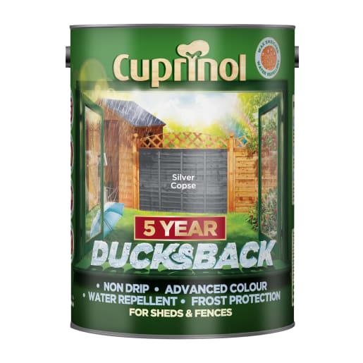 Cuprinol 5 Year Ducksback 5 Litre Silver Copse