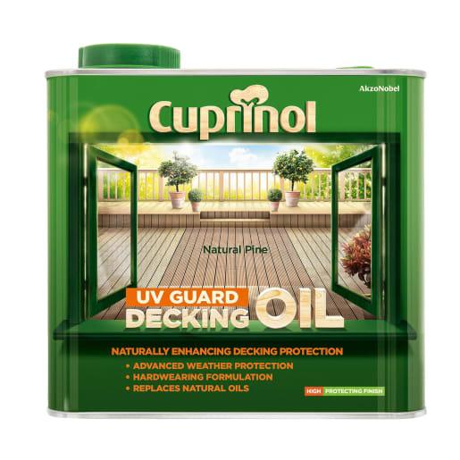 Cuprinol UV Guard Deck Oil 2.5 Litre Natural Pine