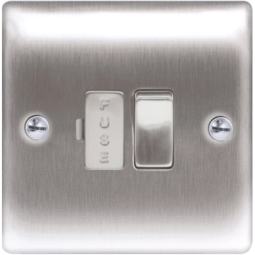 BG Electrical Nexus Metal 13A Switch Fused Connection Unit Grey
