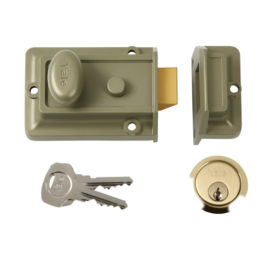 Yale Traditional Night Latch Back Set Electro Nickle Brass 60mm