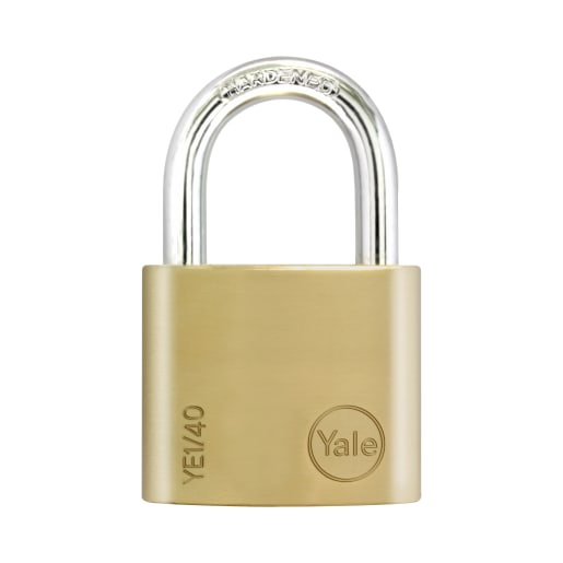 Yale Essential Series Solid Brass Shackle Padlock 40mm