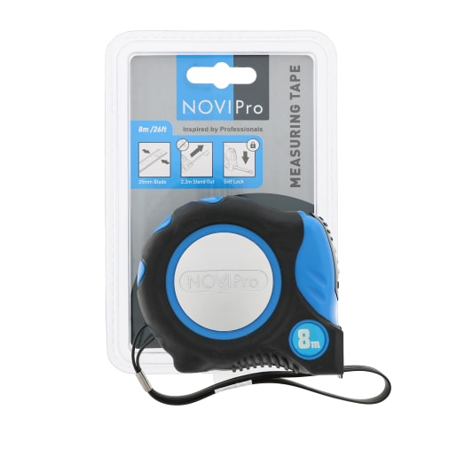 NOVIPro Tape Measure 8m Black And Blue