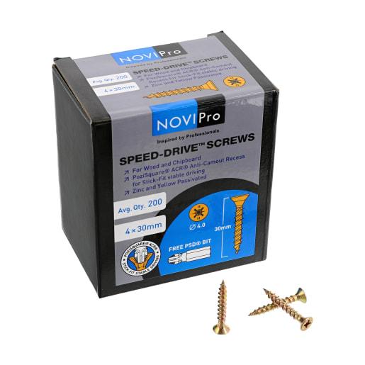 NOVIPro Speed-Drive Screws 4.0 x 30mm Pack of 200