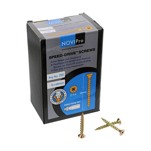 NOVIPro Speed-Drive Screws 40 x 5mm Pack of 200