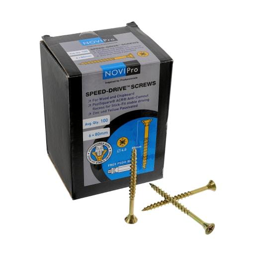 NOVIPro Speed-Drive Screws 6.0 x 80mm Pack of 100