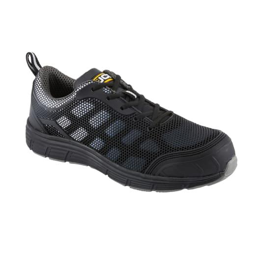 JCB Cagelow Safety Trainer Mesh KUP Lightweight Size 8 Black/Grey