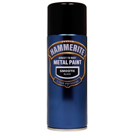 Hammerite Direct to Rust Metal Smooth Finish Paint 400ml Black