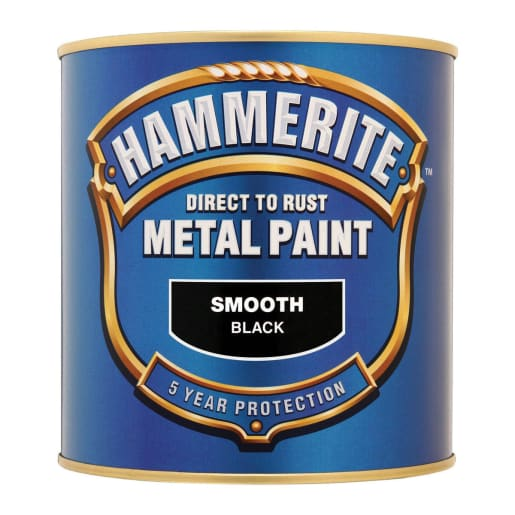 Hammerite Direct to Rust Metal Smooth Finish Paint 2.5L Black
