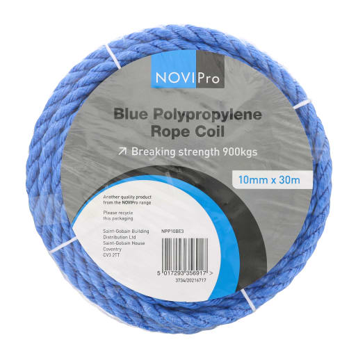 NOVIPro Poly Rope Coil 10mm x 30m Blue