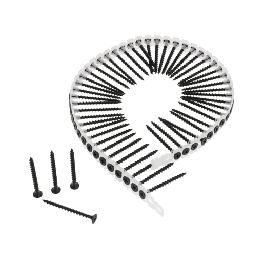 NOVIPro Collated Drywall Coarse Screws 3.5 x 50mm Black