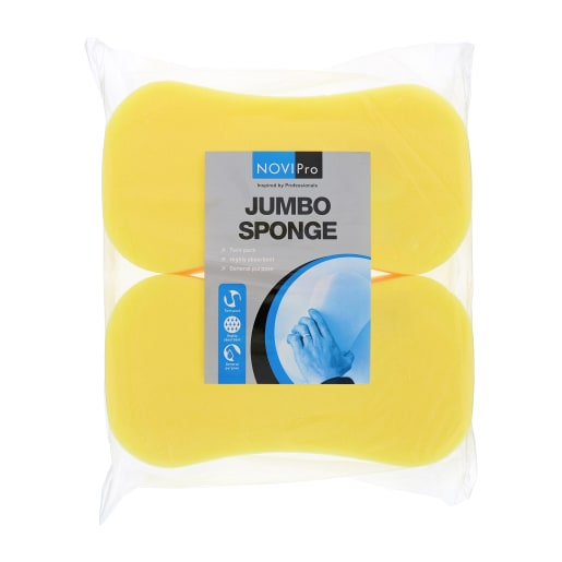 NOVIPro Jumbo Sponge Twin Pack Yellow