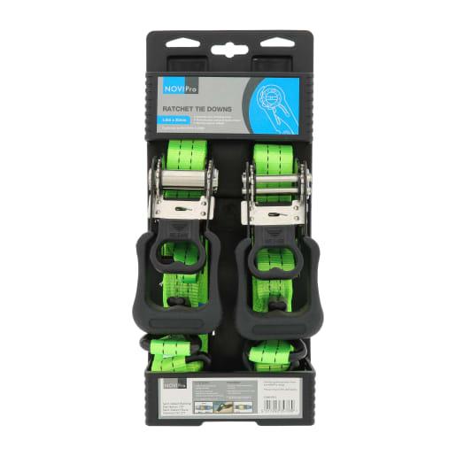 NOVIPro Ratchet Tie Down 4.8m x 32mm Pack of 2