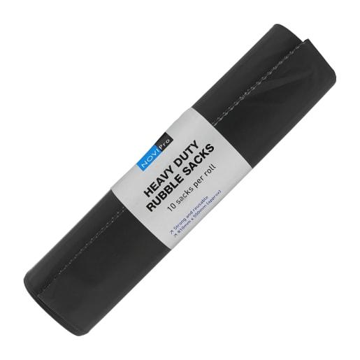 NOVIPro Rubble Sack 810 x 550mm Pack of 10 Black