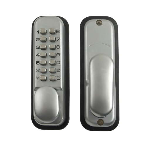 Yale Push Button Door Lock Hold Open Function Satin Chrome