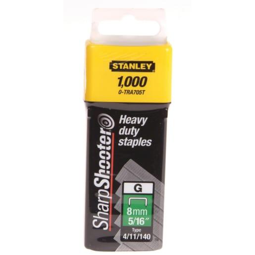 STANLEY Heavy Duty Staple 8mm W 1000 Pieces