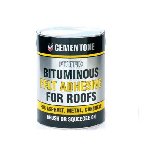 Bostik Cementone Bituminous Felt Adhesive For Roof 2.5L Black
