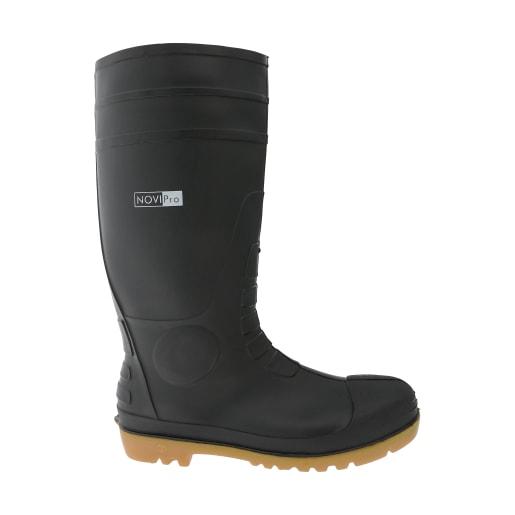 NOVIPro Safety Wellington Boot Black Size 10