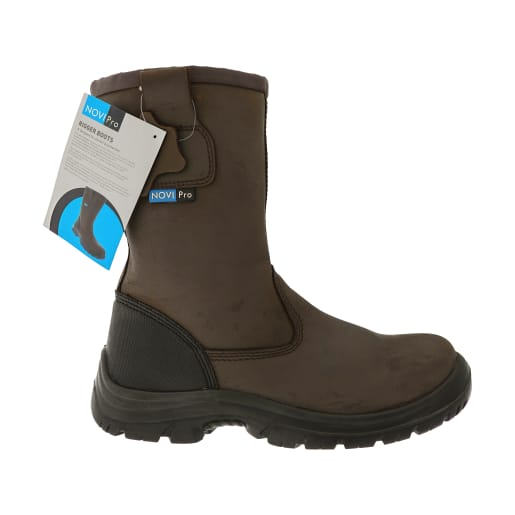 NOVIPro Safety Rigger Boots Brown Size 10