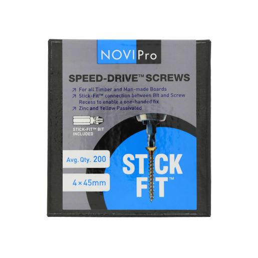 NOVIPro Speed-Drive Screws 4.0 x 45mm Pack of 200