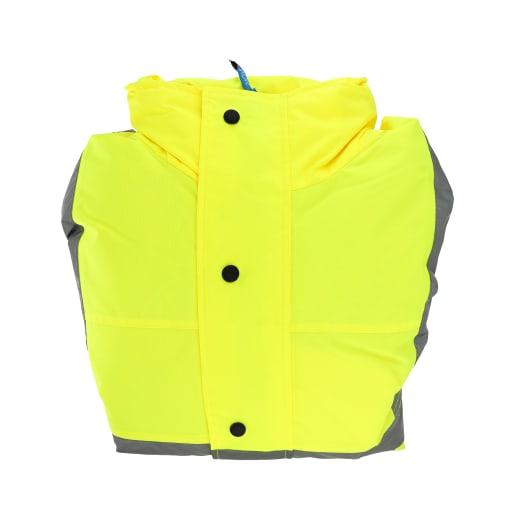 NOVIPro Hi-Vis Waterproof Coat Class 3 Size Large Yellow