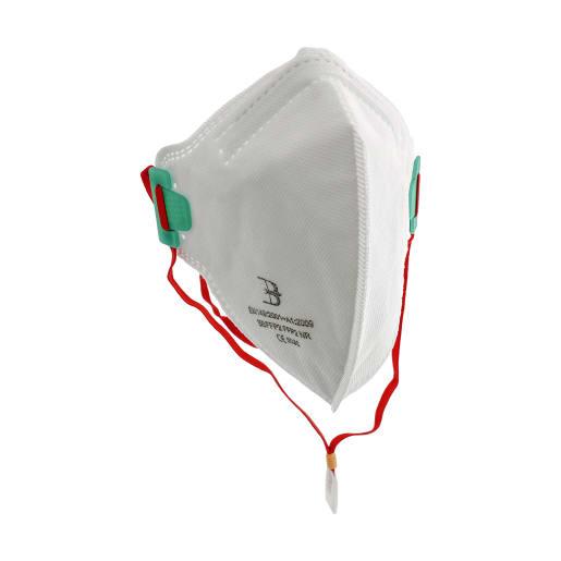 NOVIPro Folded Flat P2 Bagged Respirator White