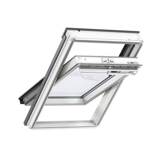 VELUX GGL FK06 2070 White Painted Centre Pivot Roof Window 66 x 118cm