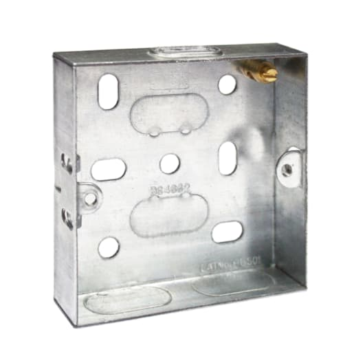 BG Electrical Steel Knockout Box 2 Gang 25mm Silver
