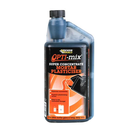 Everbuild Opti-Mix Mortar Plasticiser 1L Brown
