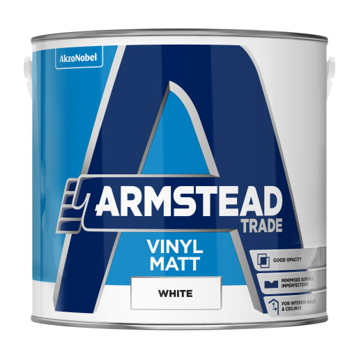 Armstead Trade Vinyl Matt 2.5 Litre White