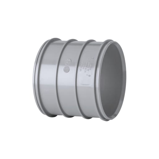 Polypipe Soil Coupler Double Socket 110mm Grey