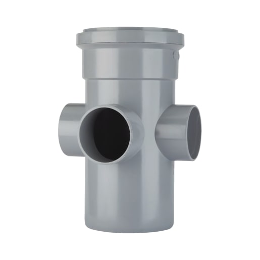 Polypipe Ring Seal Soil Boss Pipe 110mm Grey