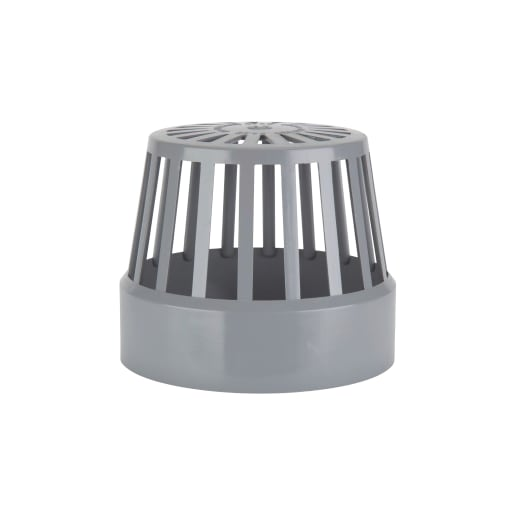 Polypipe Ring Seal Soil Vent Term 110mm Grey