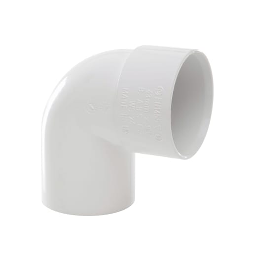 Polypipe Solvent Weld Waste 40mm Swivel Bend 92.5° White