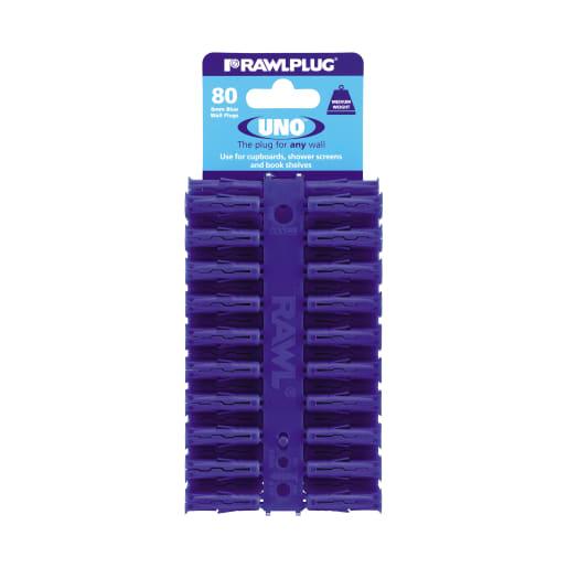 Rawlplug Universal Uno Plug 32 x 8mm Blue Pack of 80