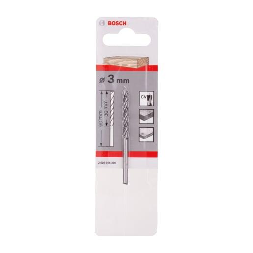 Bosch Standard Brad Point Wood Drill Bit 3mm Silver/Black