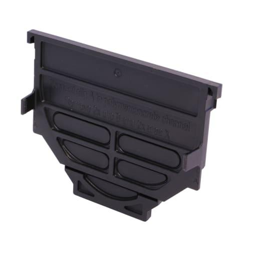 ACO HexDrain Closing End Cap 125mm Black