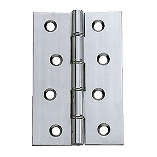 Washered Butt Hinge 100 x 30mm Pack of 2 Chrome Plated