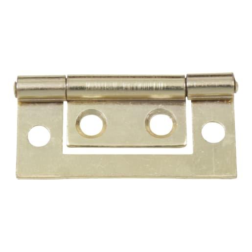 Flush Hinge 50 x 20mm Pack of 2 Electro Brassed