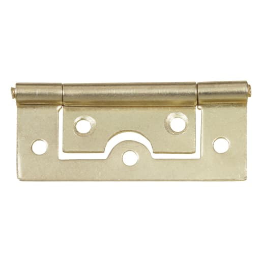 Flush Hinge 60 x 20mm Pack of 2 Electro Brassed