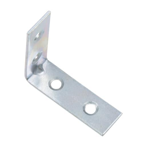 Corner Brace Bracket 50mm Pack of 4 Bright Zinc Plated