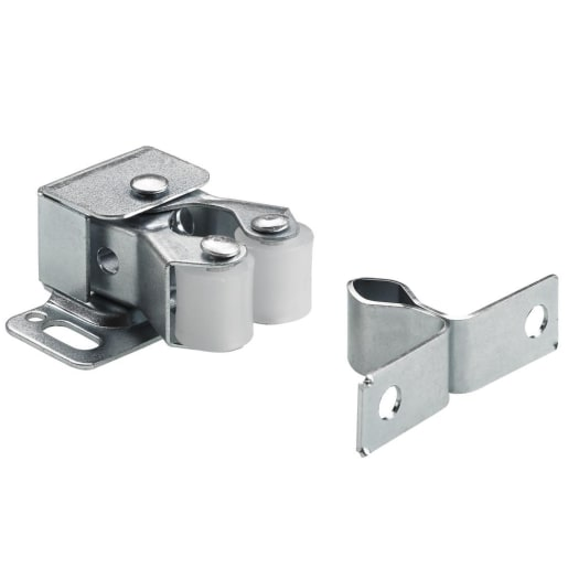 Double Roller Catch Pack of 2 Zinc Plated