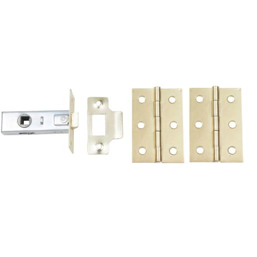 Door Latch Pack Electro Brassed