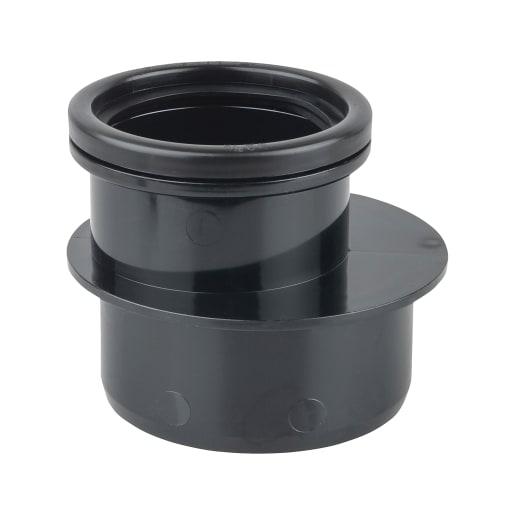 OsmaSoil Single Socket Reducer 110 x 82mm Black