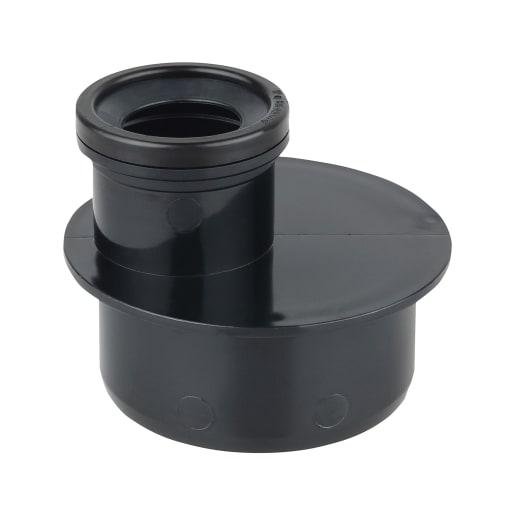 OsmaSoil Single Socket Reducer 110 x 50mm Black