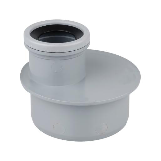 OsmaSoil Single Socket Reducer 110 x 50mm Grey