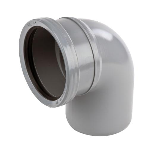 OsmaSoil 90° Spigot Bend Tight 110mm Grey