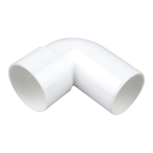 OsmaWeld Long Tail 90° Bend 32mm White