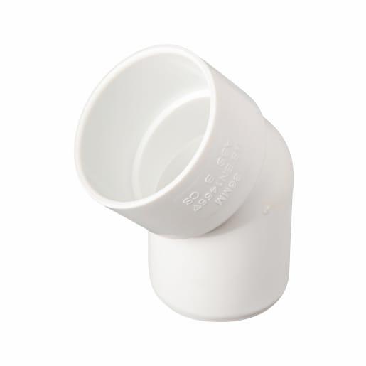 Osma 45° Spigot Bend 40mm White