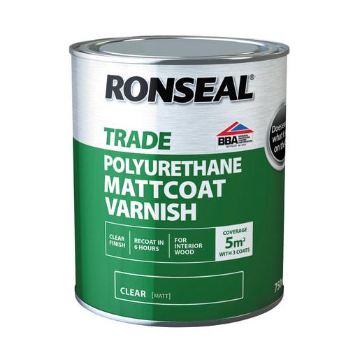 Ronseal Trade Mattcoat Varnish 750ml